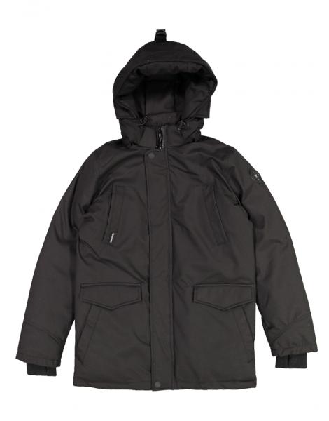 AIRFORCE - SLIMFIT HERRINGBONE jas - zwart