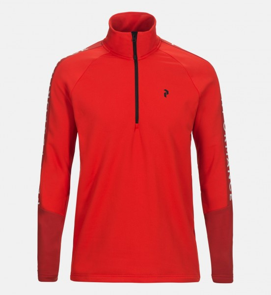PEAK PERFORMANCE - RIDER HALF ZIP vest - rood