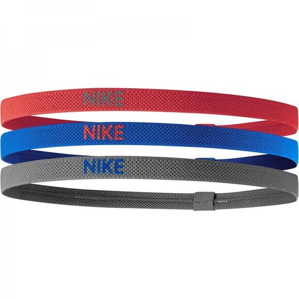 NIKE - ELASTIC haarband - rood/blauw/grijs