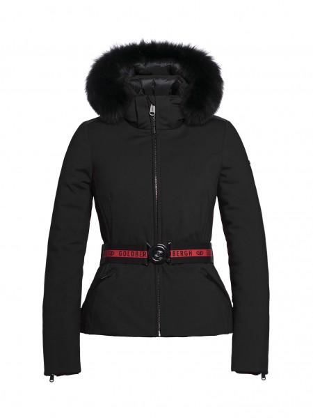 HIDA fur jacket black