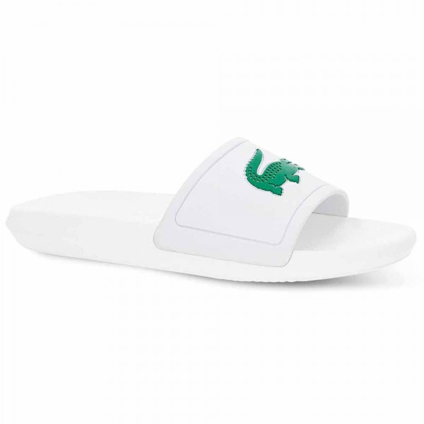LACOSTE Herenslippers - Croco wit