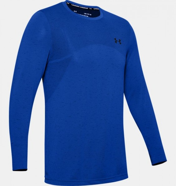UNDER ARMOUR - SEAMLESS top - blauw