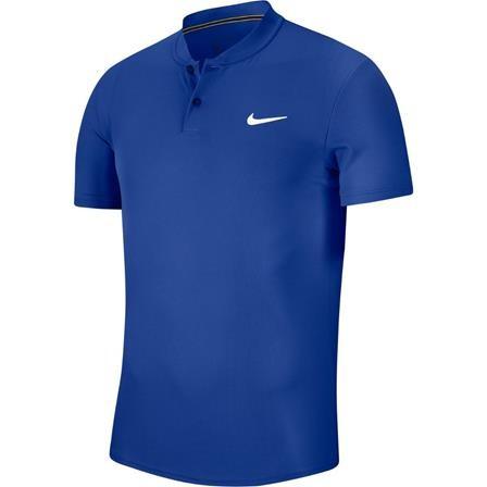 NIKE Heren tennispolo - Court Dry blauw