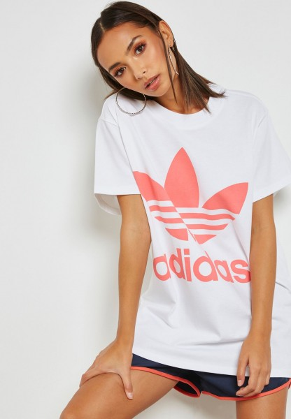ADIDAS - BIG TREFOIL t-shirt - wit