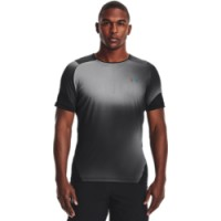 UNDER ARMOUR - RUSH HEATGEAR hardloopshirt men - zwart