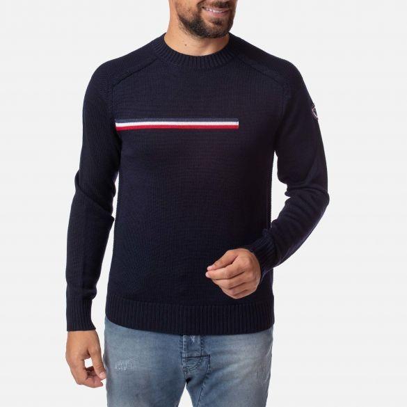 ROSSIGNOL - ODYSSEUS ROUND NECK ski-trui men - donker blauw