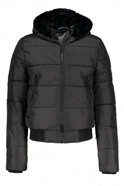 SUPER REBEL - BASIC SHINY ski jas girls - zwart