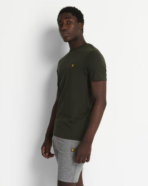 LYLE & SCOTT - MARTIN SLEEVE T-shirt men - donkergroen