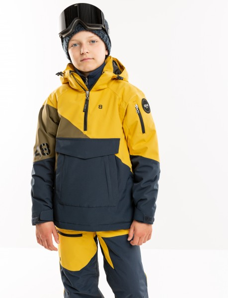 8848 ALTITUDE - SCOOTER JR ski-jas - donkerblauw/geel