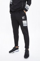 11 DEGREES - NANO REFLECTIVE STRIPE track broek men - zwart
