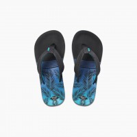 REEF - AHI slippers kids - zwart/blauw