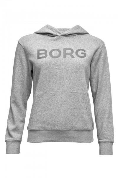 BJORN BORG - BB LOGO HOOD women - lichtgrijs
