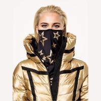 GOLDBERGH - MARF mondkapje - zwart/goud