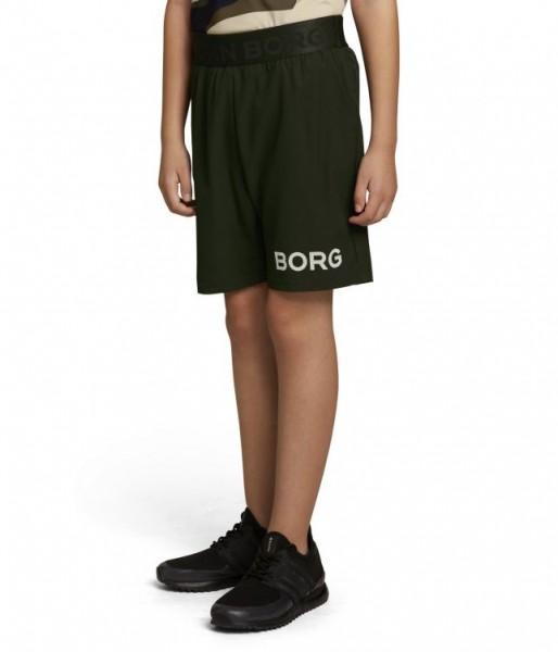 BJORN BORG - BORG short kids - donker groen