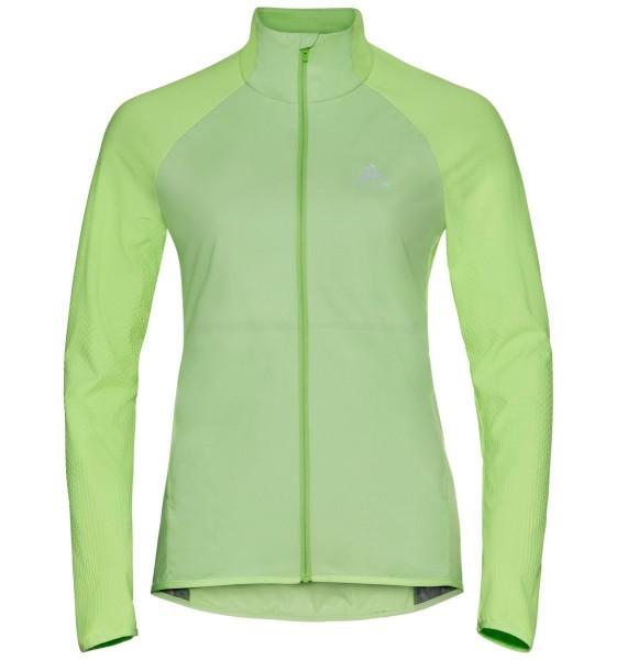 ODLO - ZEROWEIGHT WARM HYBRID hardloopjack women - groen