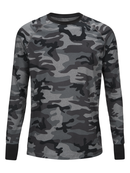 PEAK PERFORMANCE - SOFT SPRIRIT PRINTED LONGSLEEVE trui - grijs