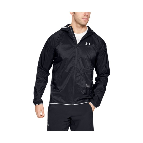 UNDER ARMOUR - QUALIFIER PACKABLE jack men - zwart