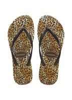 HAVAIANAS - SLIM LEOPARD slippers kids - zwart