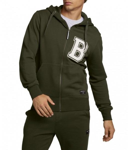 BJORN BORG - CENTRE ZIP vest men - donker groen