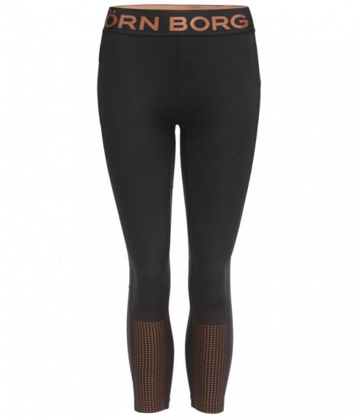 BJORN BORG - MEDAL 7/8 tights - zwart brons