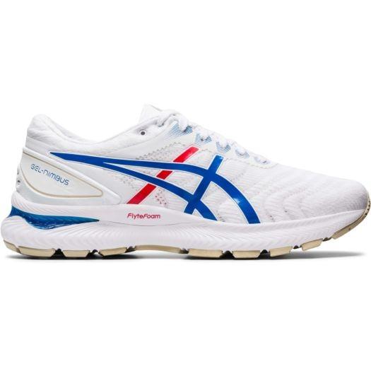 ASICS - Gel Nimbus 22 Runningschoen men - wit/blauw