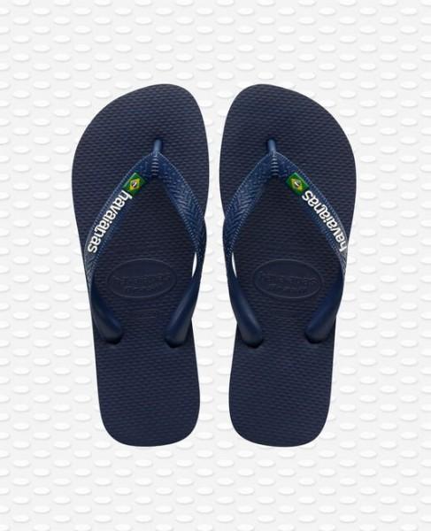 HAVAIANAS - Brazil Logo Slippers men - donkerblauw