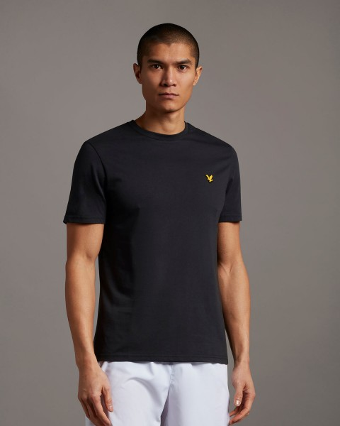 LYLE & SCOTT - MARTIN SLEEVE T-shirt - zwart