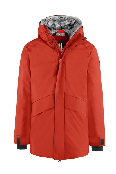 BOMBOOGIE - DOWN PADDED COAT men - rood