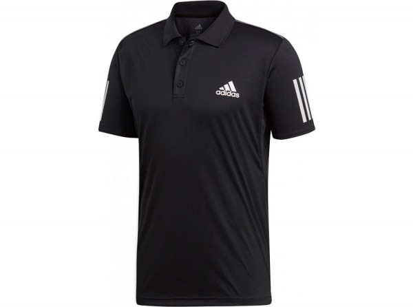ADIDAS - 3 STRIPES polo - zwart