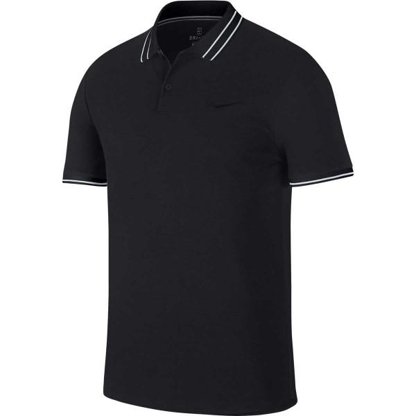 NIKE - COURT ADVANTADE POLO T-shirt - zwart
