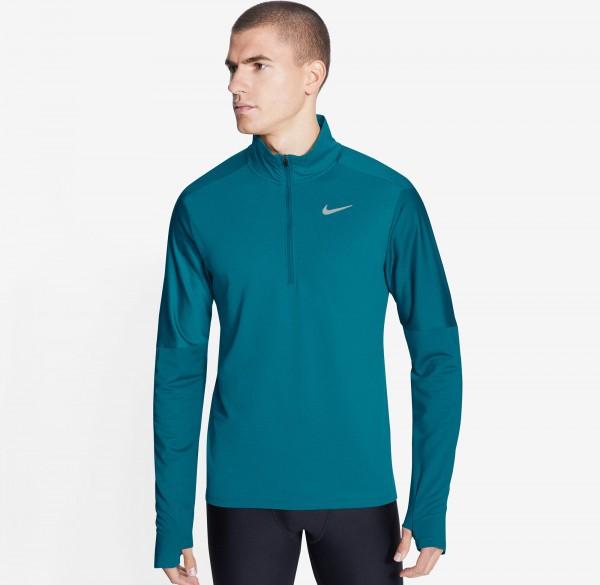NIKE - DRI-FIT 1/2 zip runningtop men - blauw