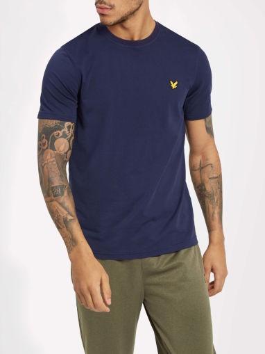 LYLE & SCOTT - MARTIN SLEEVE T-shirt men - donkerblauw