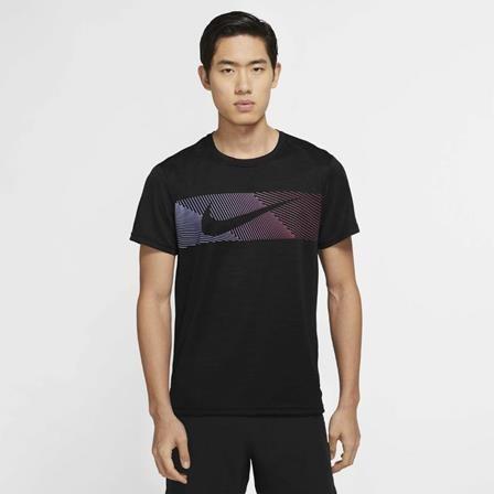 NIKE - SUPERSET t-shirt heren - zwart