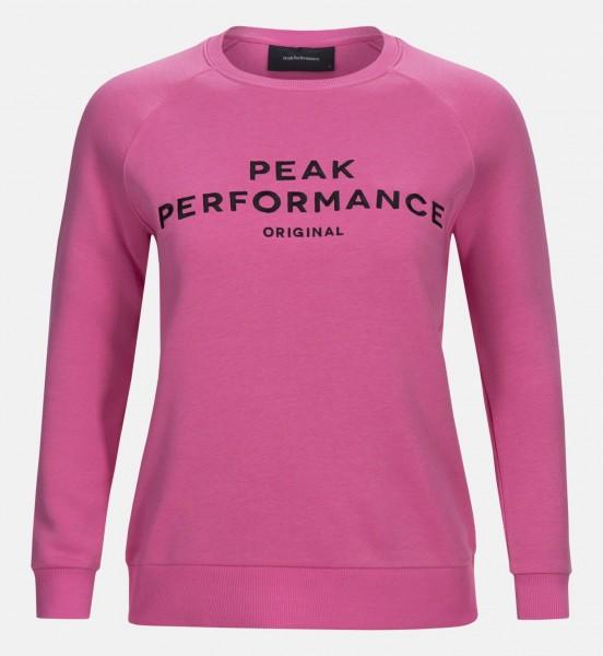 PEAK PERFORMANCE - LOGO COTTON BLEND sweater - roze