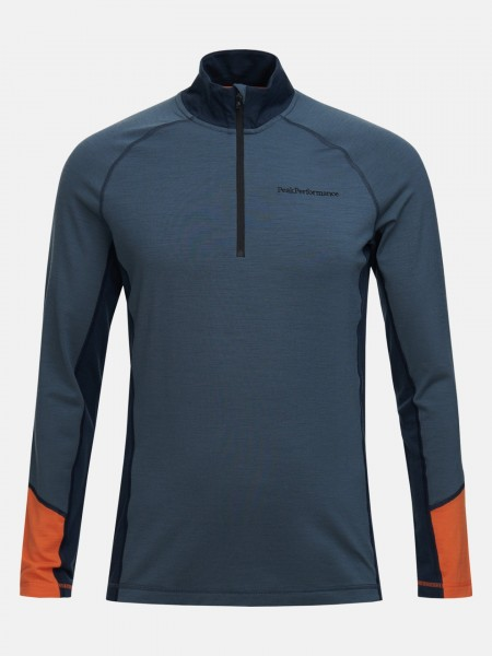 PEAK PERFORMANCE - MAGIC HALF ZIP men - blauw/oranje