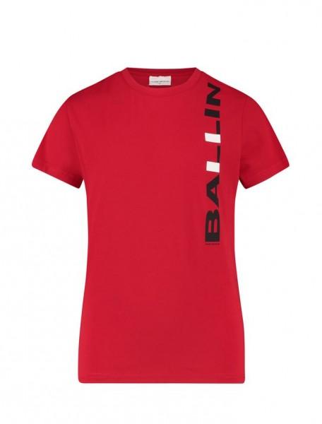 BALLIN - VERTICAAL LOGO T-shirt - rood