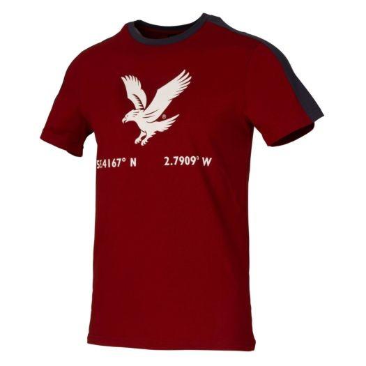 LYLE & SCOTT - EAGLE PRINT t-shirt - rood