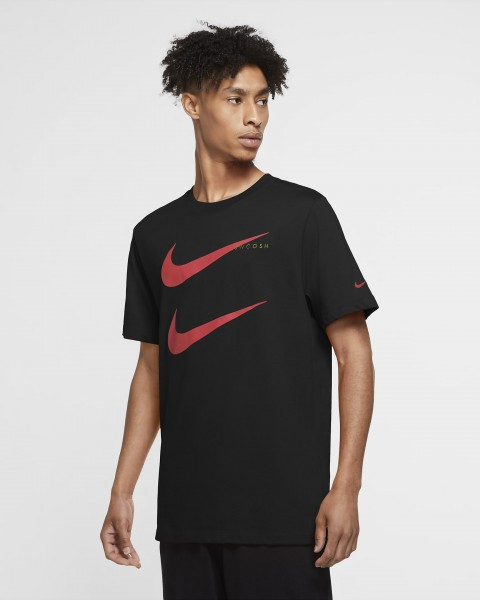 NIKE - SWOOSH t-shirt men - zwart