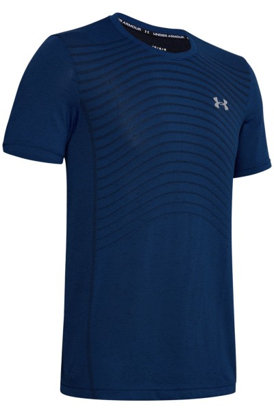 UNDER ARMOUR - SEAMLESS WAVE top - donker blauw