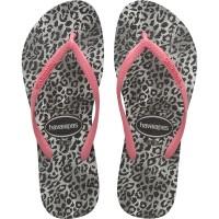 HAVAIANAS - SLIM LEOPARD slippers kids - roze