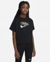 NIKE - SPORTSWEAR t-shirt meisjes - zwart