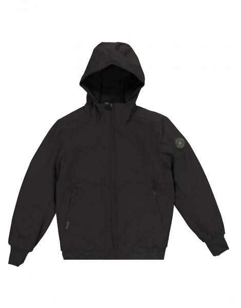 Softshell padded jas - zwart