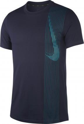 NIKE - DRI-FIT t-shirt men - donkerblauw