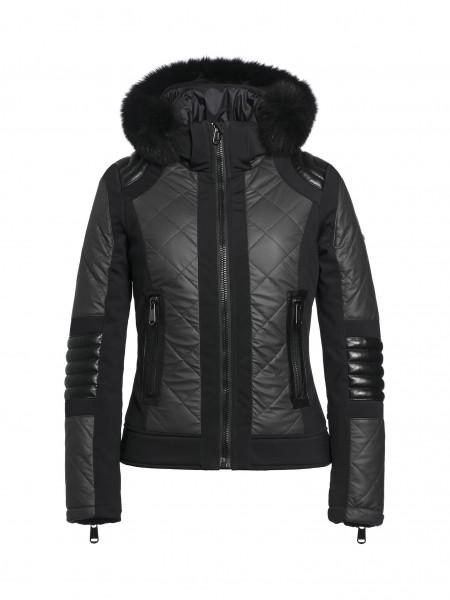 ALLEGRA REAL fur jacket black