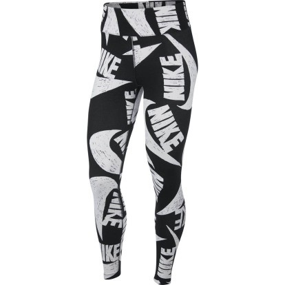 NIKE - Printed broek - zwart