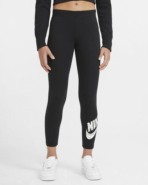 NIKE - SPORTSWEAR legging girls - zwart