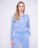 JUICY COUTURE - ROBERTSON CLASSIC VELOUR vest - lichtblauw