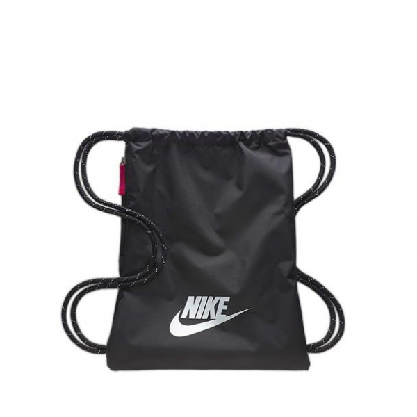NIKE - HERITAGE gym-tas - zwart