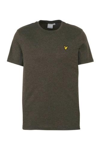 LYLE & SCOTT - MARTIN SLEEVE T-shirt - donker groen - Haarlem
