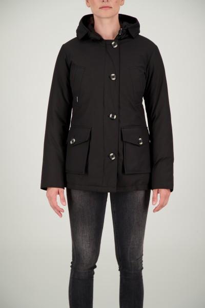 AIRFORCE - 4 POCKET HERRINGBONE jas women - zwart